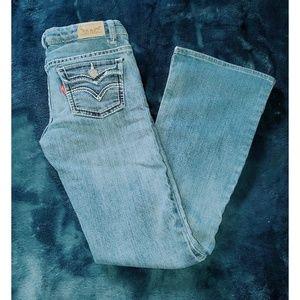 Girls Levi bootcut jeans